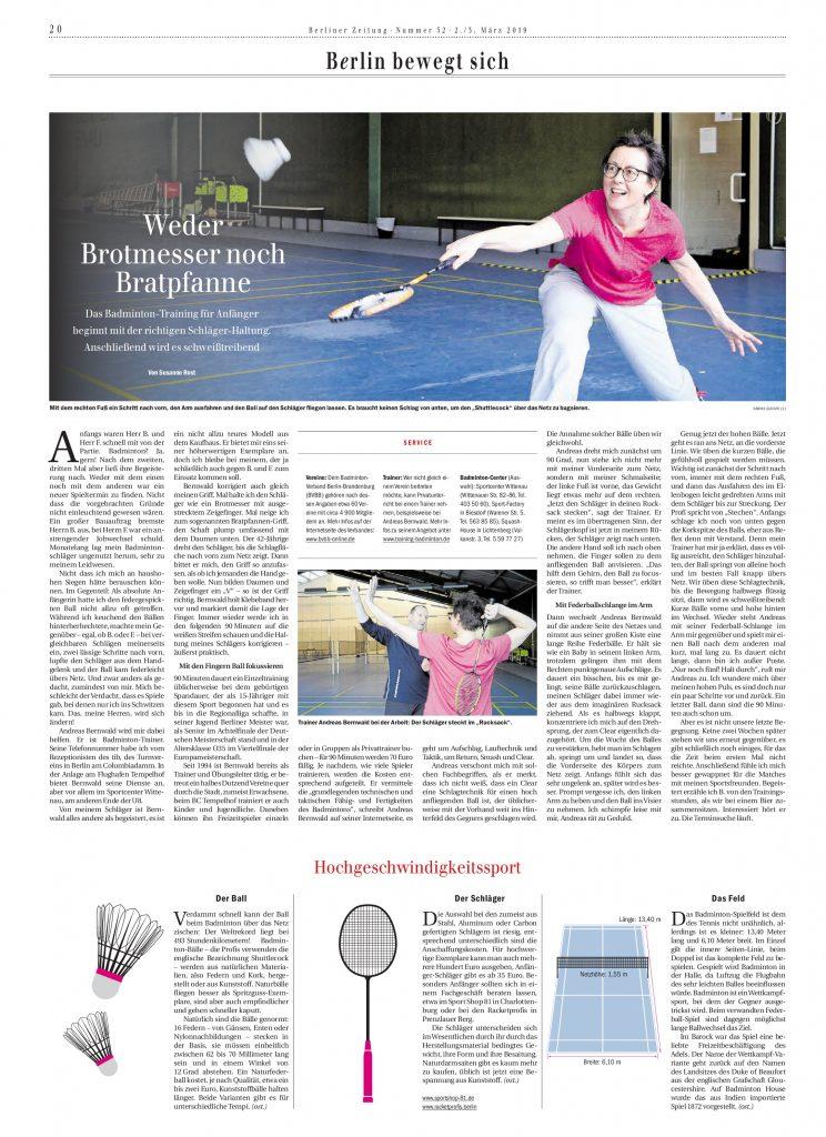 Interview mit der Berliner Zeitung